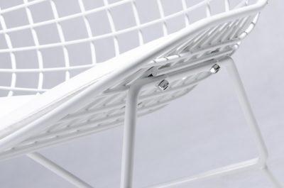 Bertoia Wire CHAIR sedia struttura laccata bianca cuscino ...