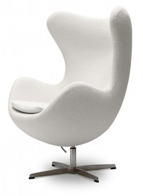 Arne Jacobsen Egg Chair Stuhl Geschwungen Dreh Replik Wolle Cashmere Leder Farbe Ihrer Wahl Design Si It