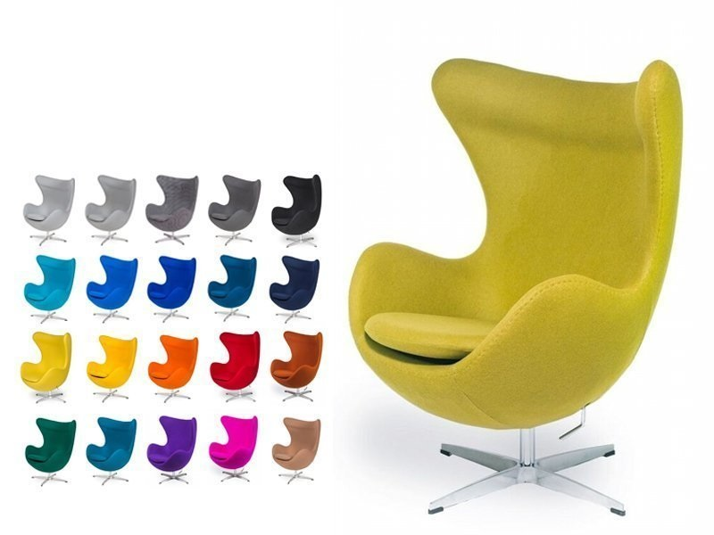 Poltrona Egg Di Jacobsen.Arne Jacobsen Egg Ottoman Armchair Swinging Swivel Replica Wool Cashmere Leather Color Of Your Choice Design Si It