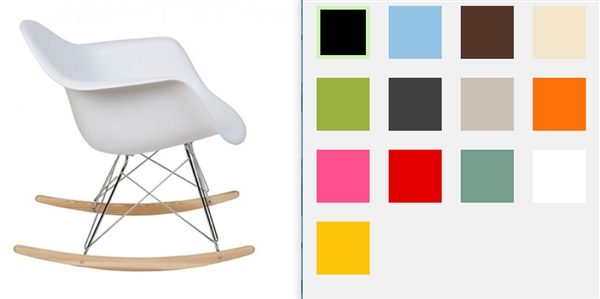Charles Eames RAR rocking chair rocking chair design color ...
