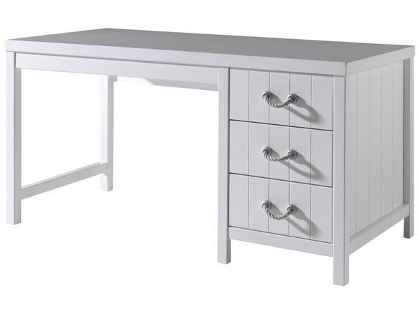 Scrivania In Legno Bianco : Total white scrivania legno laccato bianco shabby stile marina