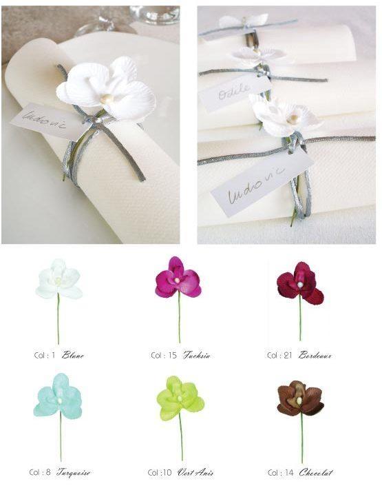 Segnaposto Matrimonio Orchidea.Portatovaglioli Orchidee Segnaposti Orchidea Colori A Scelta