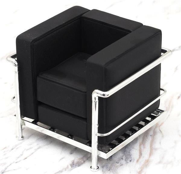 Miniatura poltrona lc2 le corbusier nera - Le corbusier sedia ...