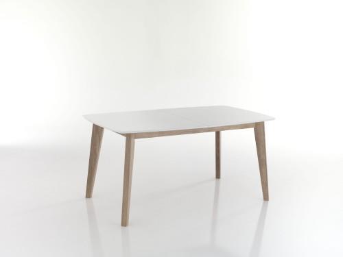 Tavolo allungabile rettangolare design scandinavo legno massello ...