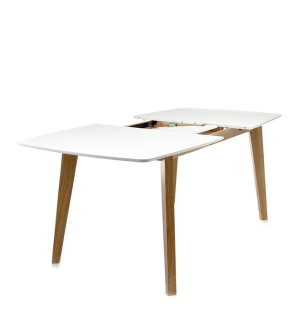 Tavolo allungabile rettangolare design scandinavo legno for Bianco leroy merlin