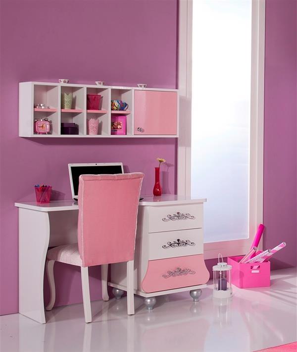 Principessa Scrivania cameretta rosa bambina tastiera estraibile ...