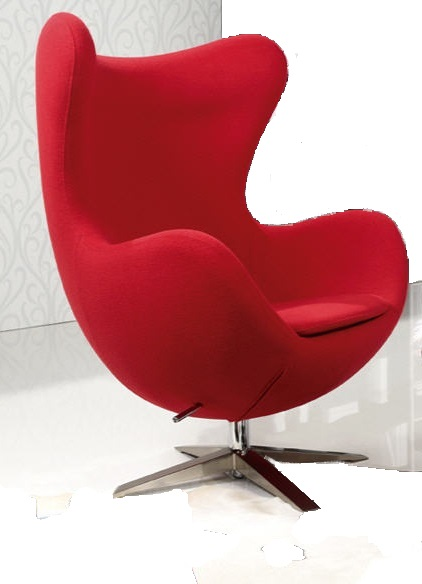 Arne Jacobsen Egg Chair Chair Rocking Red Replica Swivel Red Cashmere Design Si It