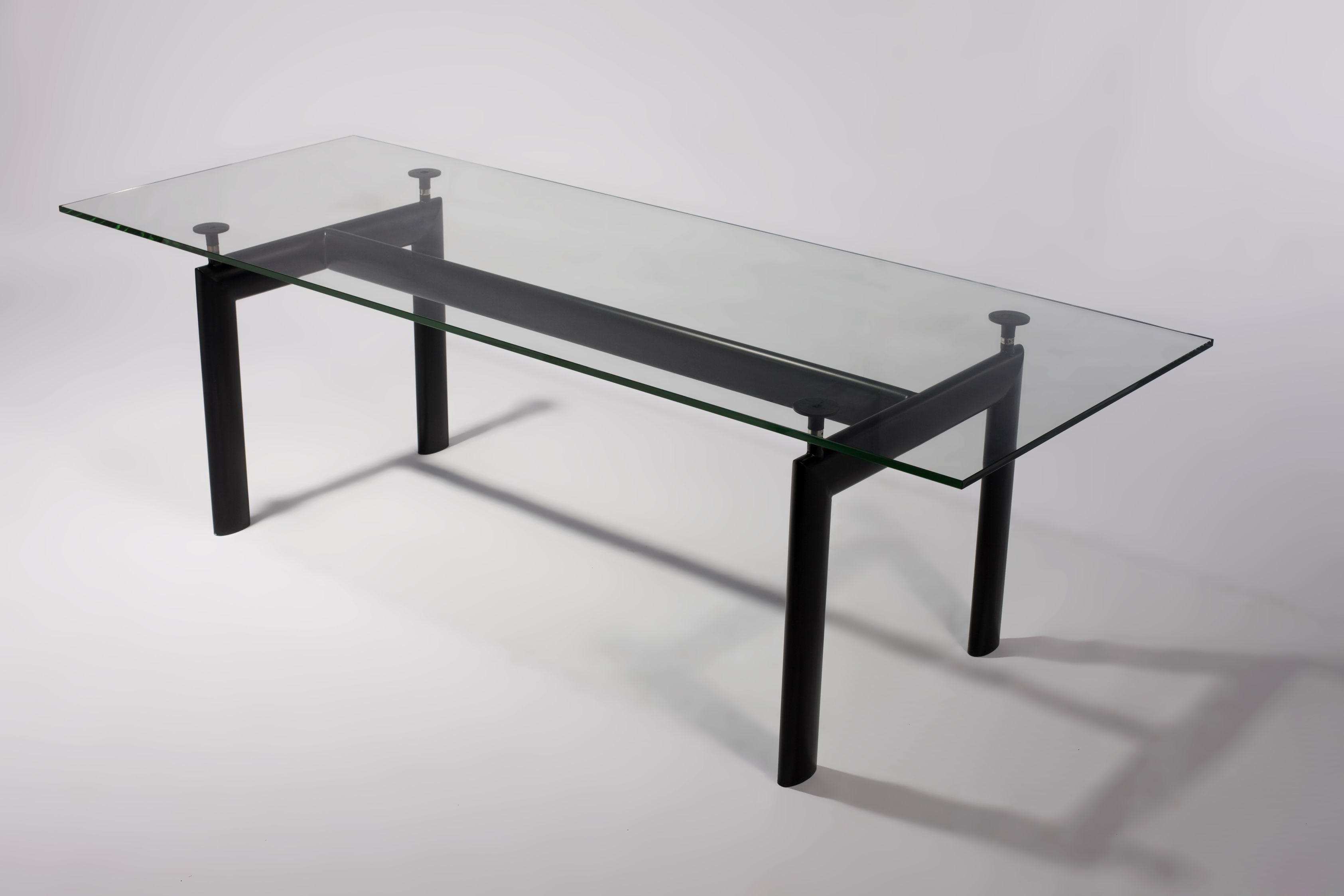 Le corbusier replica tavolo ufficio pranzo cristallo 225cm - Tavolo cristallo le corbusier ...