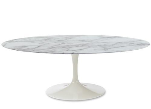 Tavolo saarinen tulip laccato bianco diam 170 cm marmo - Tavolo ovale marmo bianco ...