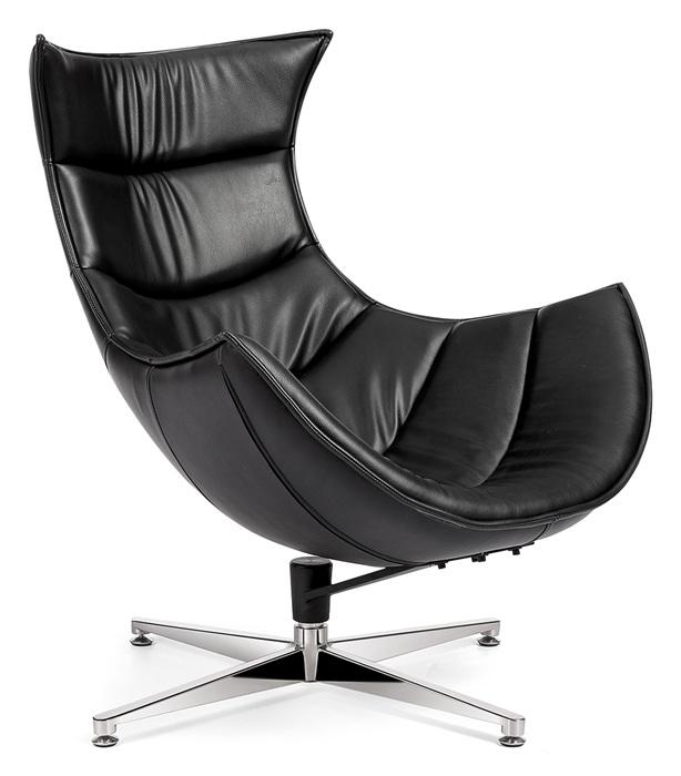 Poltrone Relax Di Design.Poltrona Relax Di Design Girevole Struttura In Fibra Di Vetro Cuoio Rigenerato Nero