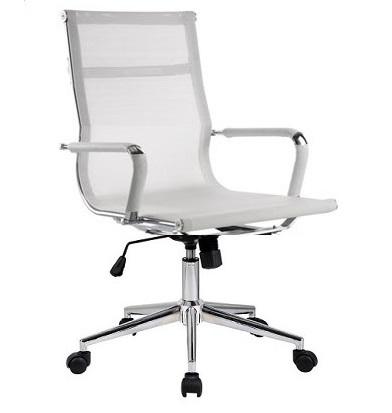 Poltrona Ufficio Schienale Alto Replica Aluminium Chair Eames Girevole Gas Basculante Maglia Bianca Design Si It