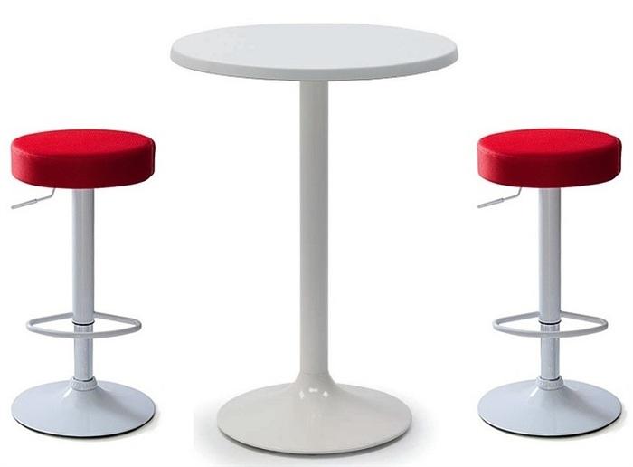 Set di un tavolo alto e sgabelli replica tulip saarinen