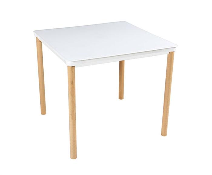 Tavolo Da Esterno Quadrato Gambe In Legno Top In Polipropilene 80 X 80 Cm Design Si It